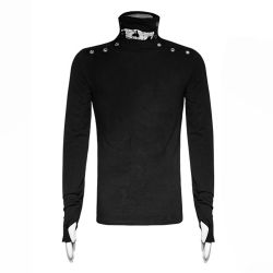 Black Long Sleeves 'Monster' Sweater