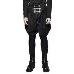 Black 'Commander' Victorian Pants