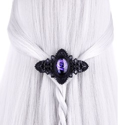 Hair Clip 'Purple Rose'