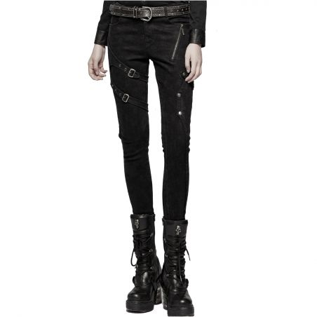 Pantalon Noir 'Gothic Trooper'