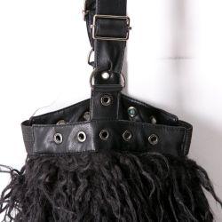 Black 'Furriku' Shorts and Legwarmers