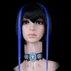 Electric Blue Clip In Hair Extensions