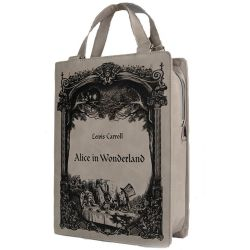 'Alice in Wonderland' Beige Book Bag