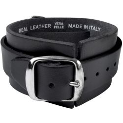 Black 'Thunderhammer' Leather Wrist Strap