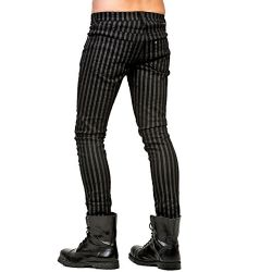 Black and Grey Pinstripped Pants 'Dark Prisoner'