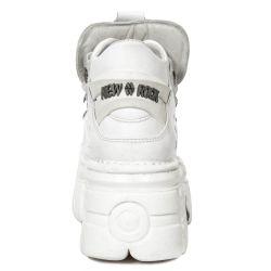White Napa Leather New Rock Metallic Shoes