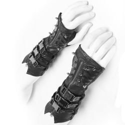 Women's Gothic Gloves with Buckles and Spikes 'Assassin's Creed'
