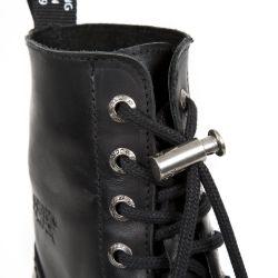 Black New Rock Newmili Platform Ankle Boots