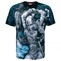 T-Shirt 'Viking Attack' Noir