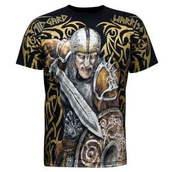 T-Shirt Noir 'Midgard Warrior'