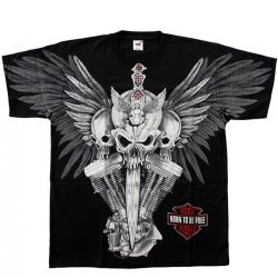 Black 'Rock Riders Skull' T-Shirt