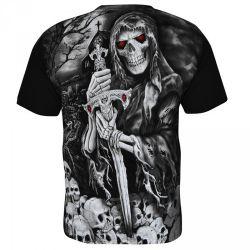 T-Shirt Noir 'Necromancer'
