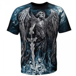 Black 'Grim Reaper' T-Shirt