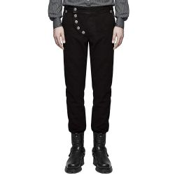 Black 'Taurus' Vintage Military Look Pants
