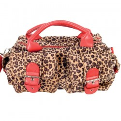 'Red Fire' Leopard Bag