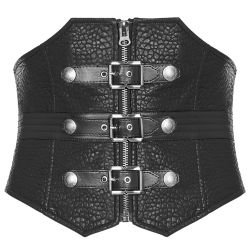 Black 'Guardian' Mens Corset Belt
