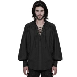 Black 'Viscount' Gothic Shirt