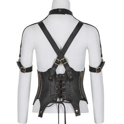 Dark Brown 'Dragon Lady' Steampunk Underbust
