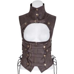 Corset 'Inquisitor' Marron