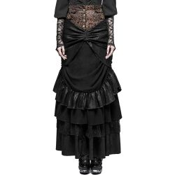 Black 'Dragon Lady' Long Skirt