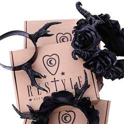 Gothic 'Roses & Beads' Headband