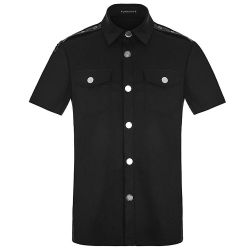 Casual Black Short Sleeves Shirt