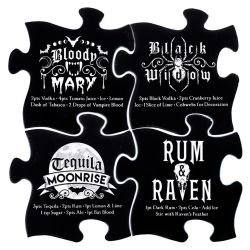 Gothic Cocktail  Jigsaw Coasters