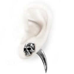 Faux Ecarteur d'oreille 'Tomb Skull Horn'