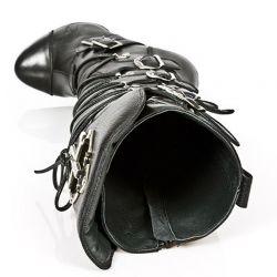 Black Nomada Leather New Rock Punk High Boots