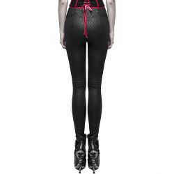 Black and Red 'Adora' Leggings