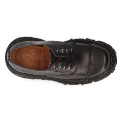 Chaussures Plateformes New Rock Tank en Cuir Noir