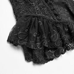 Black Jacquard 'Amuria' Corset