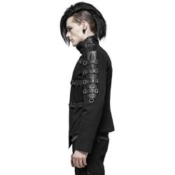 Black Asymmetric 'Asylum' Jacket