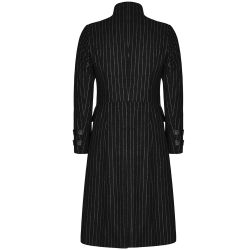 'Sweeney Todd' Medium Length Black Pinstripe Jacket