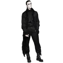 Black Long 'Dracula' Gothic Decadence Jacket