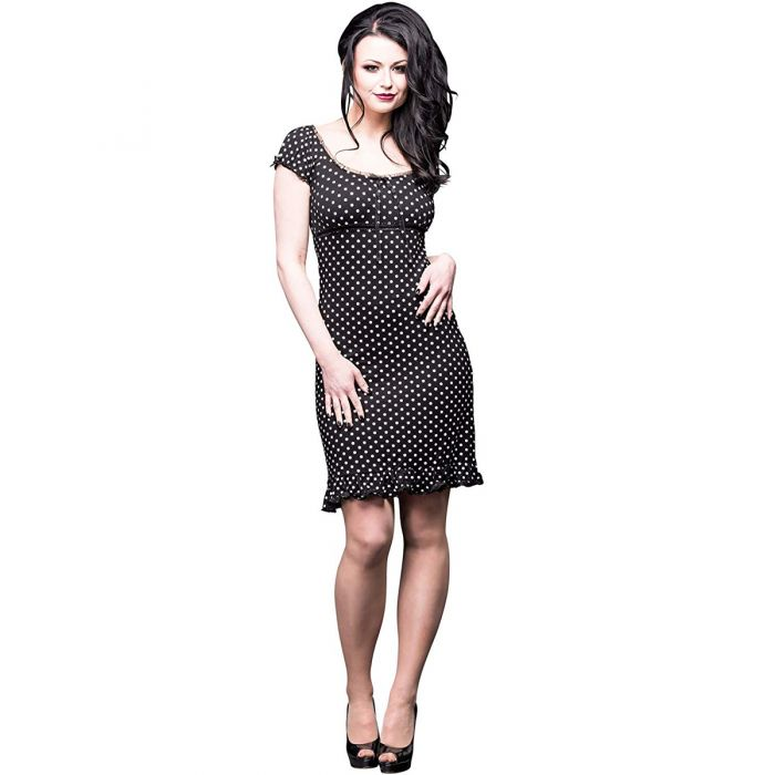 Black 'Polka' Mini Dress