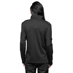 Black Long Sleeves Sweater with Skulls