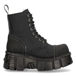Bottines New Rock Metallic Noires
