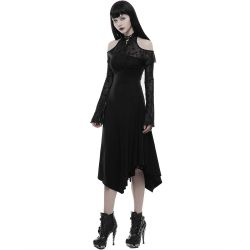 Black 'Lyra' Gothic Romantic Dress
