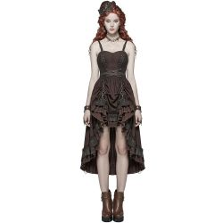Robe Steampunk 'Druidess' Marron