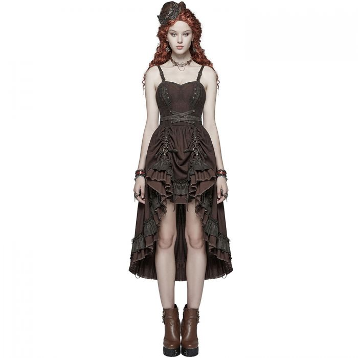 Robe Steampunk 'Druidess' Marron by Punk Rave • The Dark Store™