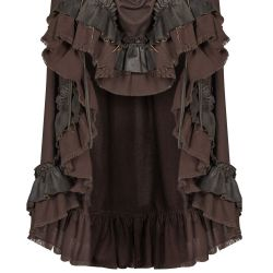 Brown 'Druidess' Steampunk Dress