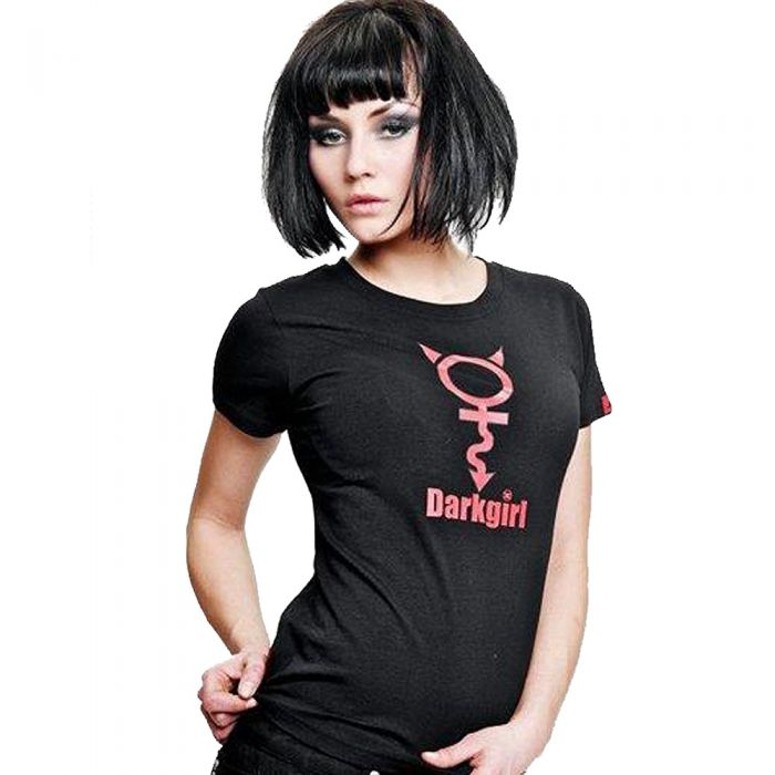 T-Shirt 'Dark Girl' Noir