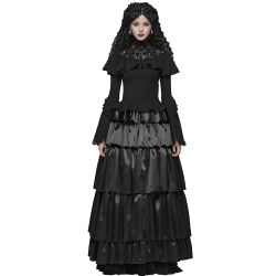 Black Long 'Syrens Song' Victorian Skirt