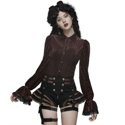 Short Steampunk 'Maeve' Noir et Marron