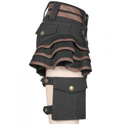 Black and Brown Steampunk 'Maeve' Shorts