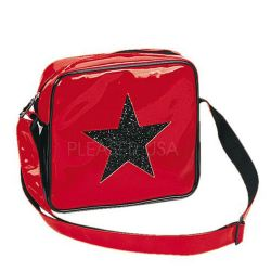 Red 'Glitter Star' Shoulder Bag