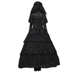 Black Long 'Amuria' Victorian Skirt