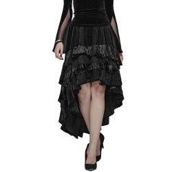 Black Long 'Maelyss' Victorian Skirt