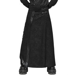 Black Suede Effect 'Nocturn' Male's Long Skirt